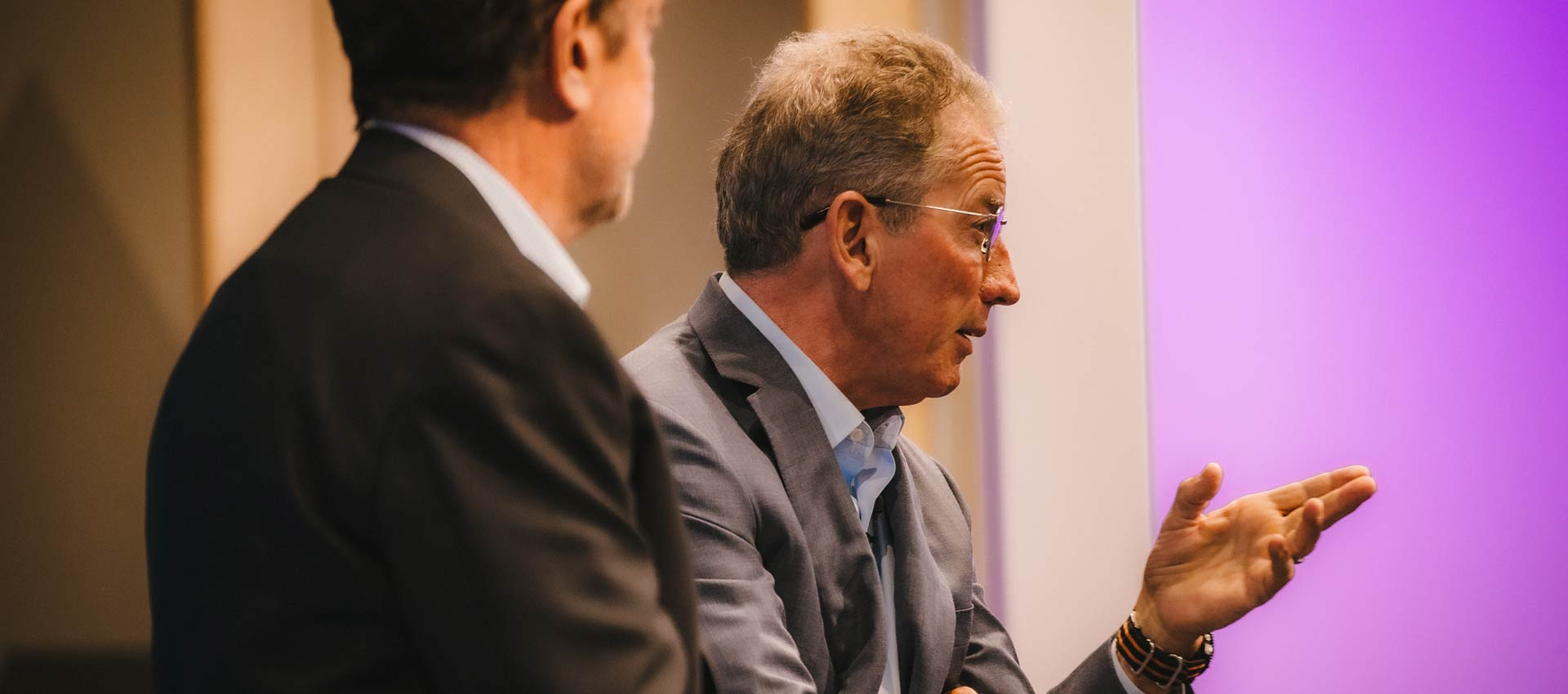 Tom Siebel speaks at the Churchill Club